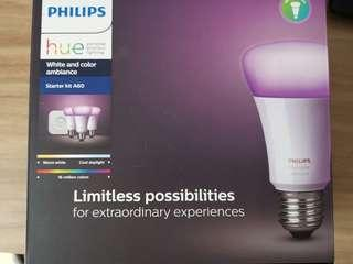2 x Philips Hue White and Color Ambience Bulb