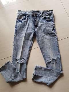 Preloved celana jeans washed rebel