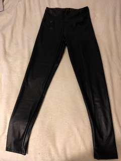 Leather tights