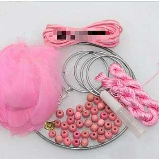 🚚 捕夢網材料包 粉色