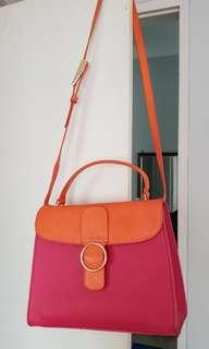 REAL PICT Charles & Keith Sling or Hand Bag 2 Colors