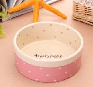 Prince/Princess Polka Dot Dog Bowls (2 Designs)