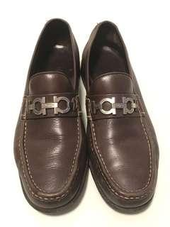 Authentic Salvatore Ferragamo Leather Loafers Size 9D