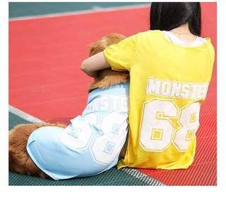 (PO) #77 Pet Dog Large Breed Sport Style Singlet Top