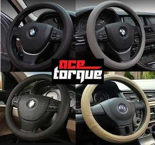 Various New Designs! Bicast Leather Car Steering Wheel Cover New