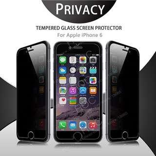Privacy Tempered Glass for Galaxy iPhone 6 / 6S