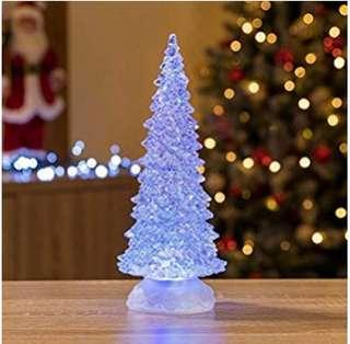 Battery Operated Glass Acrylic Colour Changing Tree