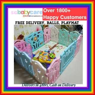 FREE DELIVERY PASTEL Baby Play Yard / Gate / Playpen
