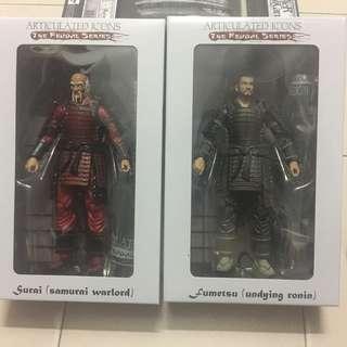 Articulated icons : fumetsu (undying ronin) & samurai warlord