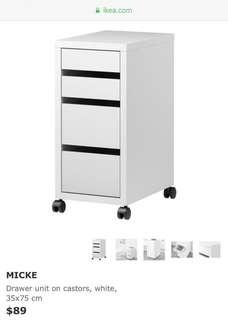 Free Delivery BN Ikea MICKE Drawer