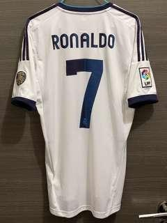 皇馬 12/13 主場 Ronaldo 波衫 球衣 Jersey Real Madrid adidas