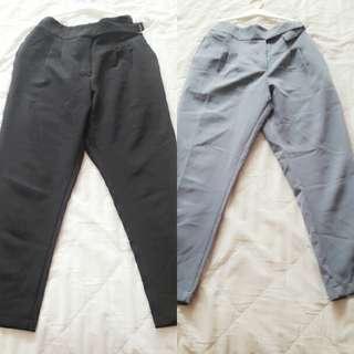 Queen Shop 素面西裝褲(2018春夏)黑、淡藍色兩件價