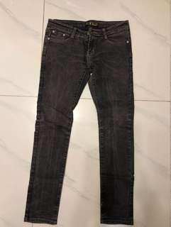 韓式牛仔長褲