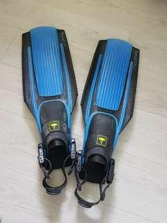 Snorkelling or Diving Fins