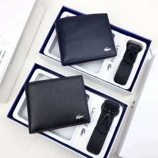 ON HAND: Authentic Lacoste Men's Leather Bifold Wallet