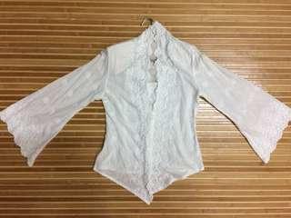 White Kebaya Top