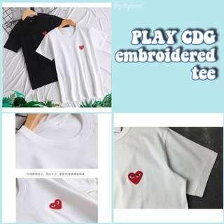 [po] play cdg embroidered tee