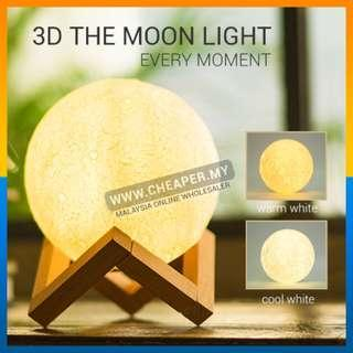 USB 3D Moon Lamp Levitating Night Touch Bedrooms Lamp