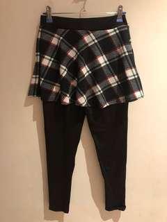 🚚 全新 格紋配色褲裙 有彈性