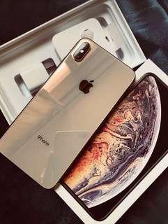Apple Iphone XS Max gold 265gb fullset 蘋果最新香檳金色大Mon 所有配件全套齊