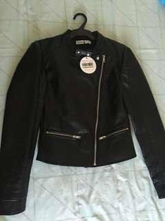 Authentic A&F Leather Jacket