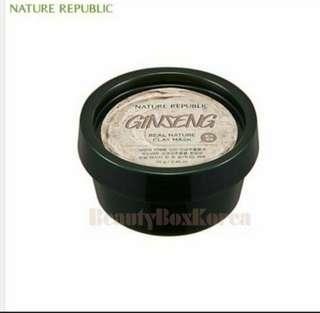 BNIB Nature Republic Ginseng face mask
