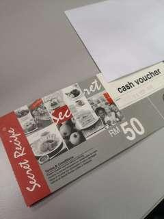 Secret Recipe Cash Voucher RM100