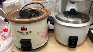 Rice Cooker 1L & Slow Cooker 3.5L Buy 1 Get 1 free