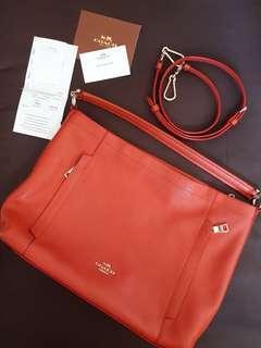 ORIGINAL Coach Orange Bag With Straps