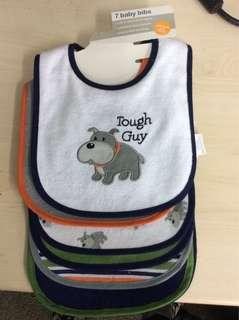 Luvable Friends 7pcs Doggy soft fabric Baby bibs