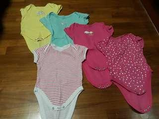 (Free Normal Mail)Pre❤ Baby Rompers Early Days 3-6mths 5pcs @ $11