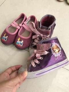 Princess shoes sepatu sofia cinderella snow white