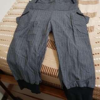 🚚 台灣製條文背帶八分褲