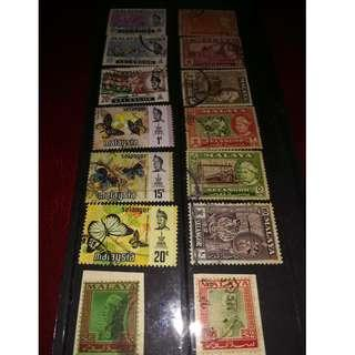Old Selangor Stamps (Two $5) - High Value