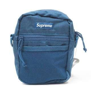 Supreme shoulder bag in blue s17