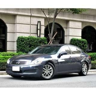 2007~INFINITI G35 深灰色 3.5cc 一手車 原版件 電動天窗 免KEY 方向盤換黨控制 倒車雷達