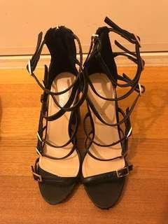 Scrappy block heels