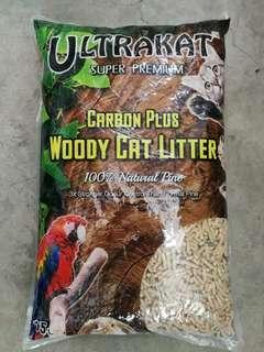 15L ULTRAKAT Carbon Plus Woody Cat Litter