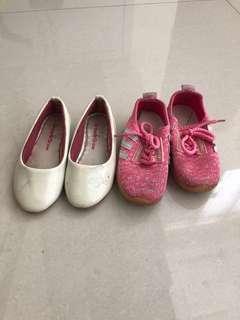 Sport shoes pink dan putih