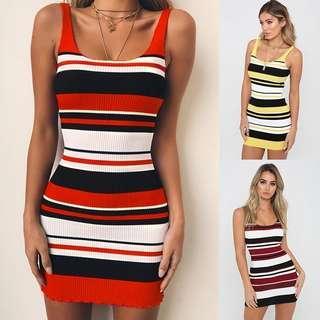 [PO] Stripes Knit Bodycon Dress