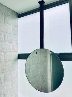 Customized hanging steel mirror