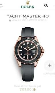 NEW Rolex Yacht Master 40 Oyster 40 mm Everose gold.