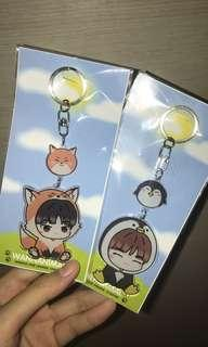 wanna one animal keychains