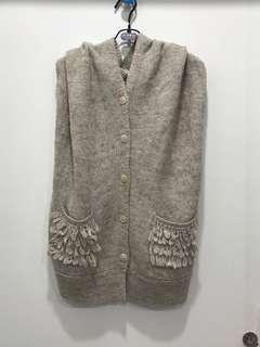 🚚 gozo 羊駝毛造型背心式罩衫