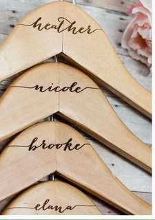 Wooden hangers as your accessory