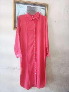 Tunik ukuran xl warna pink