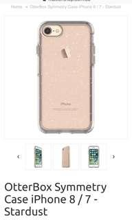 Otter box Symmetry Stardust - Iphone 7/8 case, price inc shipping