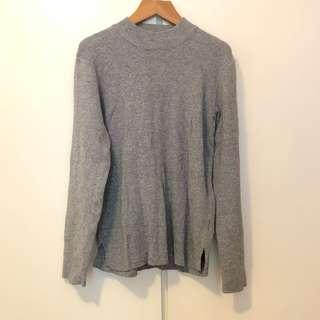 MJ Style grey knit sweater