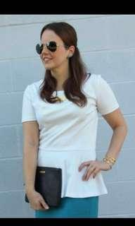White peplum TOP blouse Mayuki