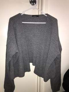 Boohoo charcoal grey oversized cardigan
